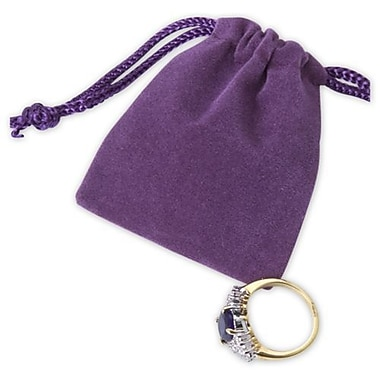 2in. x 2 1/2in. Velvet Pouch, Purple