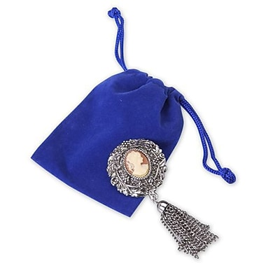 3in. x 4in. Velvet Pouch, Royal Blue