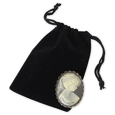 3in. x 4in. Velvet Pouch, Black