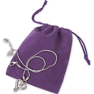 4in. x 5 1/2in. Velvet Pouch, Purple