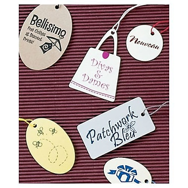 Present Foil Stamped Tag, 2in. x 1 23/32in.