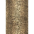 7 3/8in. x 100' Leopard Jeweler's Roll Gift Wrap, Black/Tan