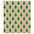 24in. x 100' Little Trees Gift Wrap, Tan/Green