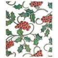 24in. x 417' Elegant Holly Gift Wrap