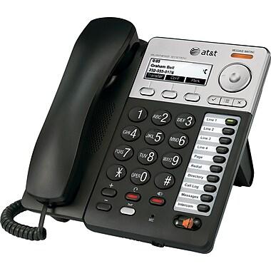 AT&T SB35020 Standard Phone, Black/Silver