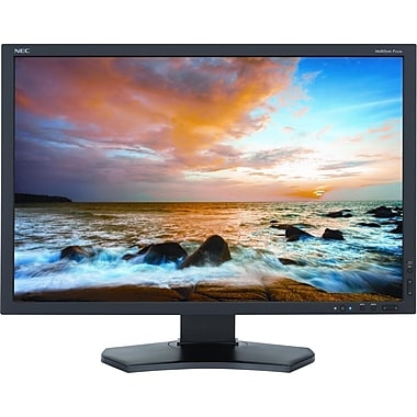 NEC MultiSync® P242W-BK P Series 24.1in. LED Backlit IPS Entry Level Professional Desktop LCD Monitor