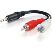 C2G™ 3' Value Series™ Stereo Male to Two RCA Stereo Male Y-Cable