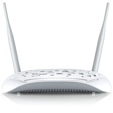 TP-LINK TD-W8968 Wireless N300 ADSL2+ Modem Router, 2.4Ghz 300Mbps, 802.11b/g/n, Splitter, USB, 2x 5dBi Detachable Antennas