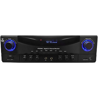 Pyle PylePro PT570AU 5.1 Channel Amplifier Receiver With Built-In AM/FM Radio