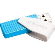 Verbatim® Store 'n' Go® Swivel 8GB USB 2.0 Flash Drive, Caribbean Blue