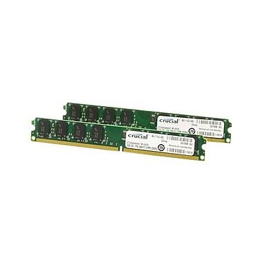 Crucial 4GB (2 x 2GB) DDR2 (240-Pin DIMM) DDR2 667 (PC2 5300) Desktop Memory Module