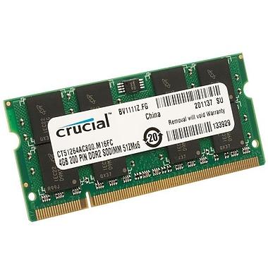 Crucial 8GB (2 x 4GB) DDR2 (200-Pin SO-DIMM) DDR2 800 (PC2 6400) Notebook Memory Module