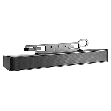 HP® NQ576AA LCD Wired Sound Bar Speaker, 2.6 W, Black