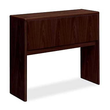 HON 10700 Series 3-Door Stack-On Hutch for use with 10700 Series Office or Computer Desks, Mahogany