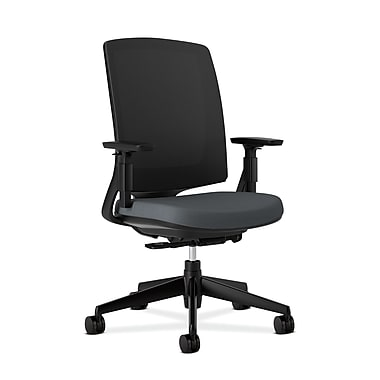 HON Lota Mesh Back Computer Chair for Office and Computer Desks, Arms, Charcoal