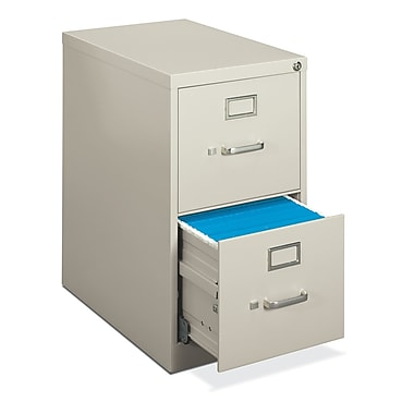 basyx by HON 410 Series Vertical File Cabinet, Light Gray