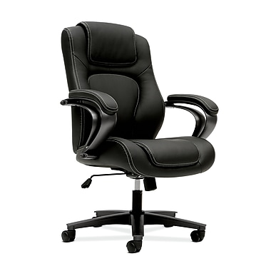 basyx by HON HVL402 Mid-Back Chair, Black