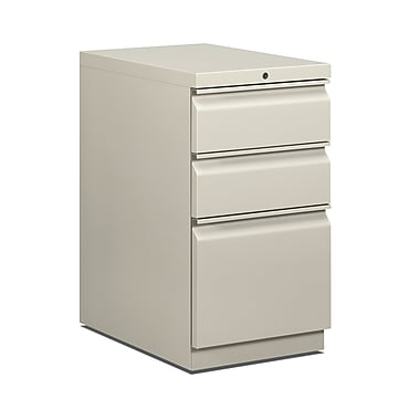 HON Brigade 3 Drawer Mobile/Pedestal File, Gray,Letter, 15''W (H33723RQ)