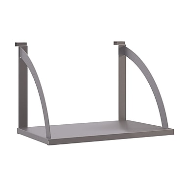 basyx by HON Verse Hanging Shelf / 24in.L, Light Gray