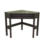 TMS Wood Corner Computer Desk, Black