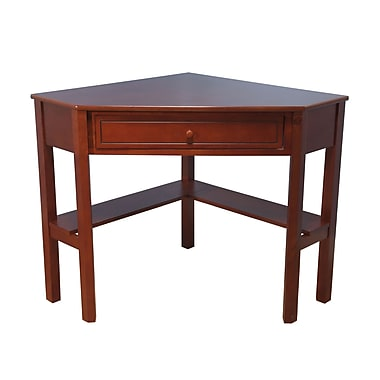 TMS Wood Corner Computer Desk, Cherry