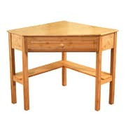 TMS Bamboo Corner Desk, Natural