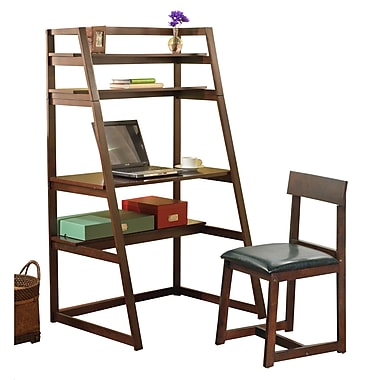 TMS 2 Piece Ladder 3-in-1 Desk Set, Espresso