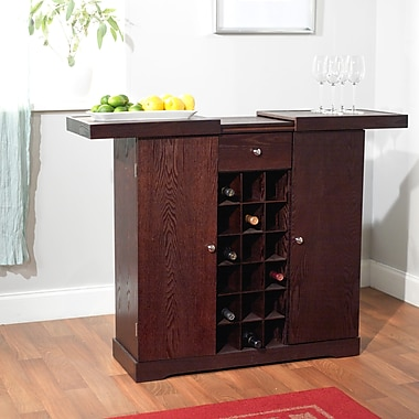 TMS Wood Wine Storage Cabinet, Espresso (48810ESP)