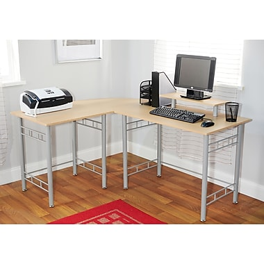TMS Wrap L-Shaped Computer Desk, Natural (50165NAT)