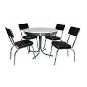 "TMS Retro 30"" x 38"" x 38"" Metal 5 Piece Dining Sets"