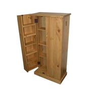 TMS Solid Pine Wood Utility Pantry, Honey