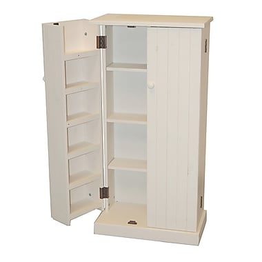 TMS Solid Pine Wood Utility Pantry, White