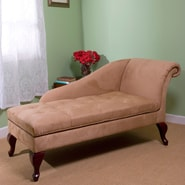 TMS Microfiber Fabric Storage Chaise, Tan