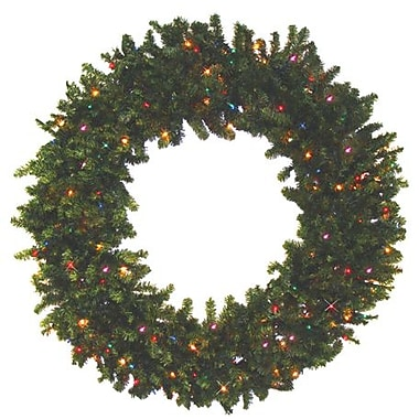 Darice® Battery Operated Canadian Pine Artificial Christmas Wreath, Multi LED Light