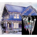 LB International 6/Set LED White Wire Dripping Icicle Shape Christmas Lights