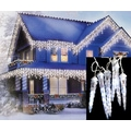 LB International LED White Wire Dripping Icicle Shape Christmas Light, 8/Set, Polar White