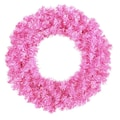 Allstate Unlit Sparkling Hot Pink Artificial Christmas Wreath