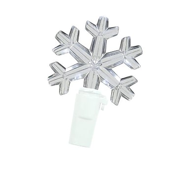 Hofert Mini White Wire Twinkling Snowflake IcicIe Christmas Light, 100/Set, Clear Bulb