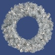 Allstate Pre-Lit Sparkling Silver Tinsel Artificial Christmas Wreath, Clear Light