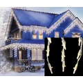 Sienna Green Wire LED Cascading Mini Icicle Christmas Light, 105/Set, Warm Clear