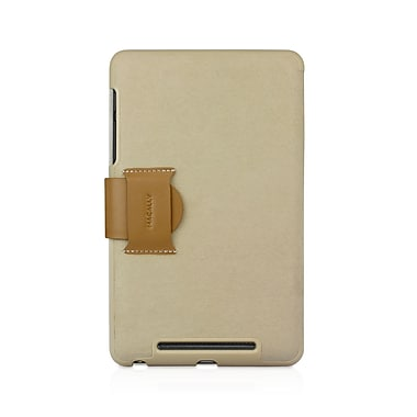 Macally Leather Case & Stand For Nexus 7, White