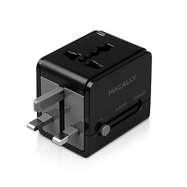 Macally LPPTCIIMP Universal Power Plug Adapter with USB Port