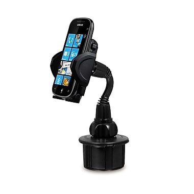 Macally Automobile Cup Holder Mount For Cell Phones, Smartphones, GPS And PDA, Black