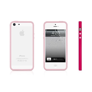 Macally Protective Frame Case For iPhone 5, Pink