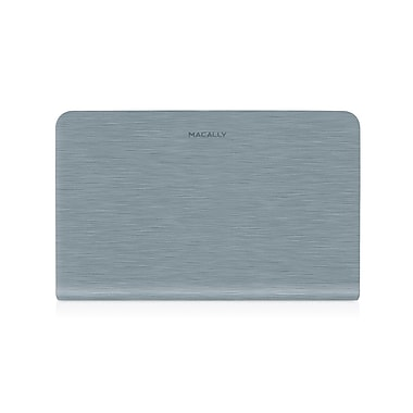 Macally Protective Case Cover For 11in. Macbook Air, Steel Gray