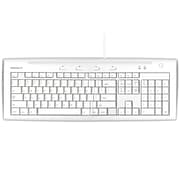 Macally iKey5 USB Slim Keyboard, Ice White