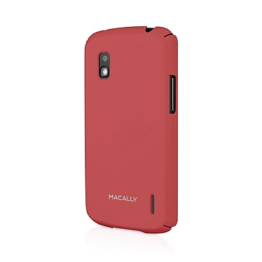 Macally Hardshell Case For Google Nexus 4, Red