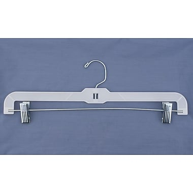 Plastic Hi-Impact Heavy Weight Skirt/Slack Hanger, White, 16