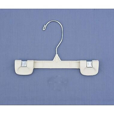 Plastic Snap Grip Swivel Hook Skirt/Slack Hanger, Chrome Hook, Ivory, 8