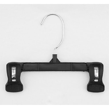 Swivel Hook Plastic Pinch Grip Skirt/Slack Hangers,  8in.
